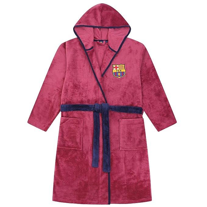 FCB FC Barcelona - Batín con Forro Polar y Capucha para Hombre - Producto Oficial: Amazon.es: Ropa y accesorios