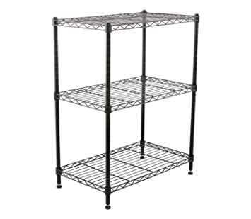 Finnhomy Supreme Steel Wire Shelving Unit with Stable Leveling Feet  3 Shelves  Wire Rack Shelving. Amazon com  Finnhomy Supreme Steel Wire Shelving Unit with Stable