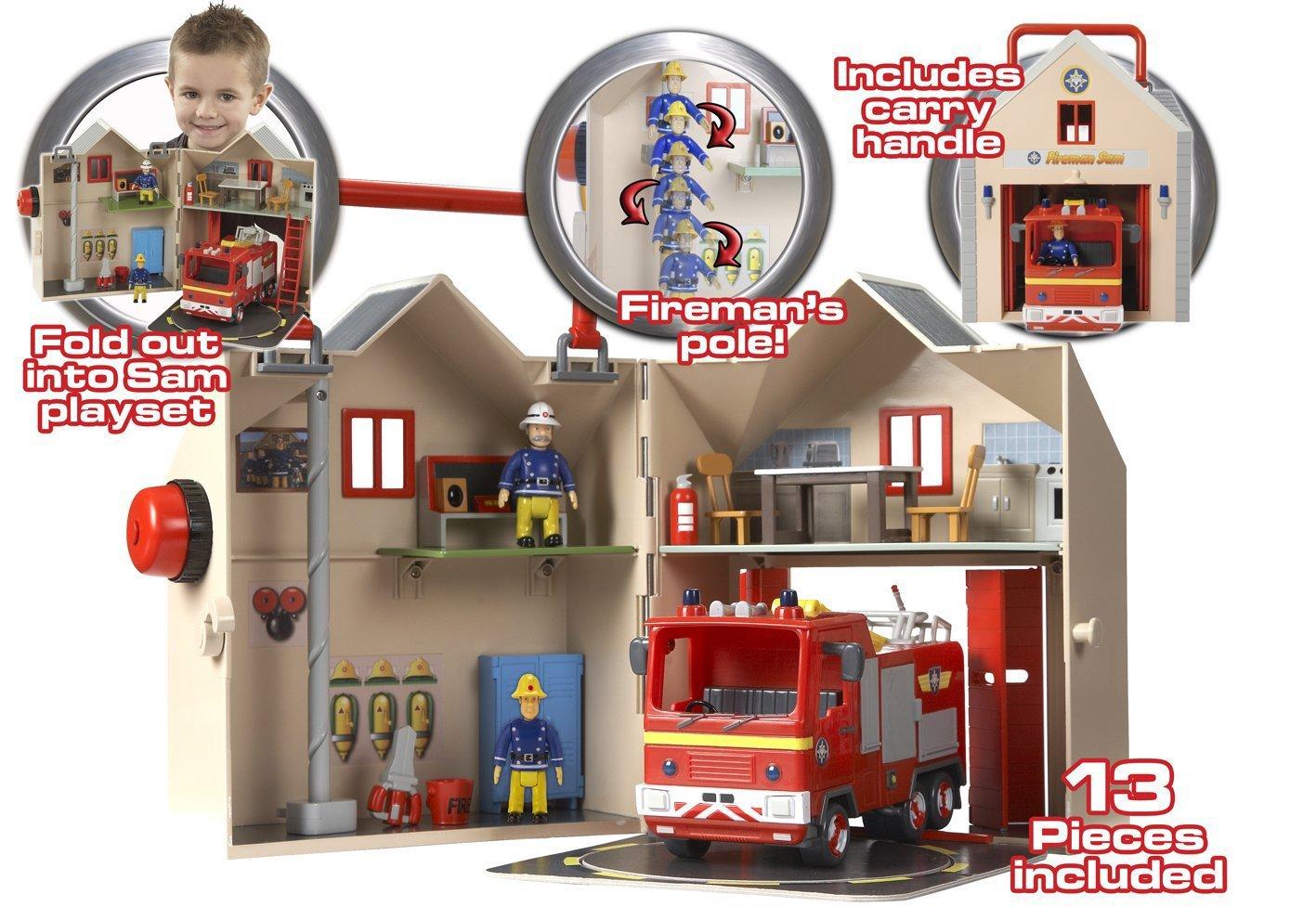 Fireman Sam Deluxe Fire Station Playset & Fire Engine Jupiter Set