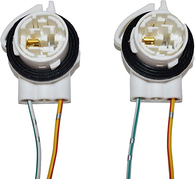 A-Team Performance Daytime Running Lights and Turn Signal Socket for 4157 3157 4114 Compatible with LS94 GM Bulbs Two-Wire Pack of 2