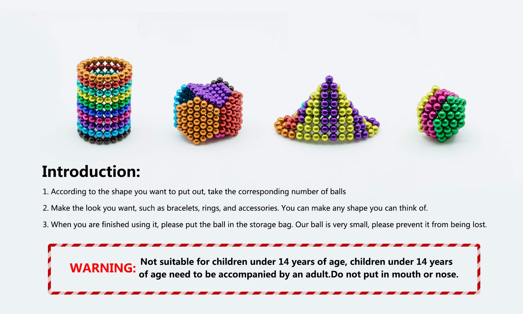 sunsoy 1000 Pieces 5mm Sculpture Building Blocks Toys for Intelligence Learning -Office Toy & Stress Relief for Adults Colorful by sunsoy (Image #7)