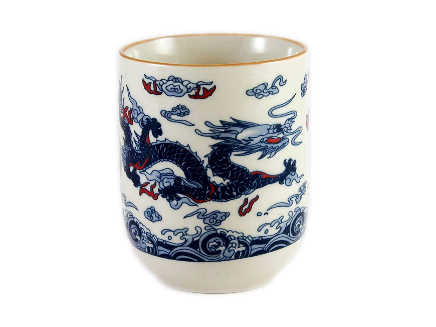 Dragon Design Chinese Tea Cup (Blue) Cheong