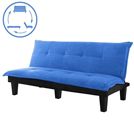 Sofa Bed Convertible Futon   Modern Convertible Futon Sofa Bed With Wood  Legs Quickly Converts Into