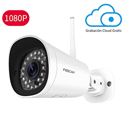Foscam FI9902P 1080P Cámara Bala IP WiFi Vigilancia, 8H EN LA Nube Gratis, Detección