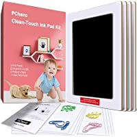 Large Size Baby Inkless Handprint and Footprint Kit with 4 Ink Pads and 8 Imprint Cards by PChero, Perfect for Family…