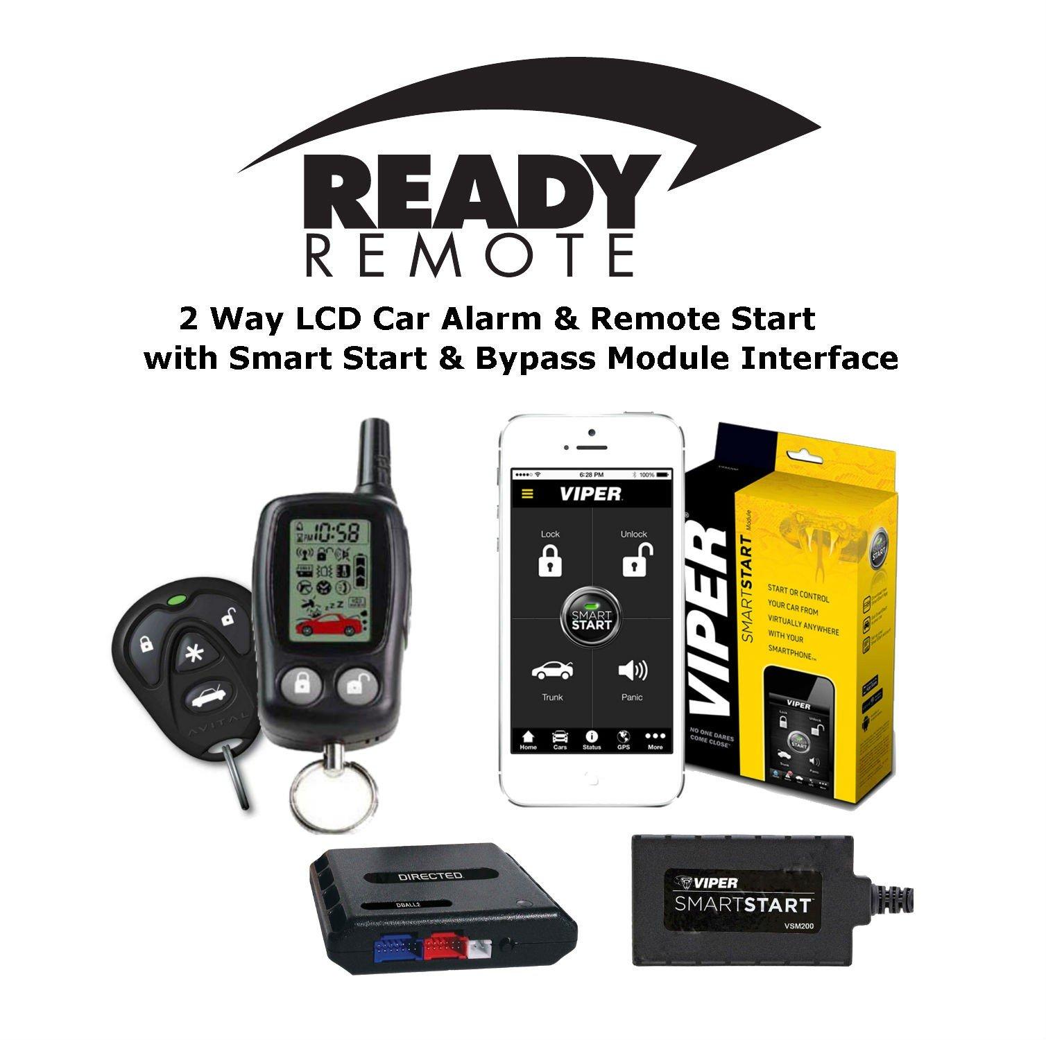 Ready Remote 5303R 2 Way Car Alarm Remote Start Viper VSM200 SmartStart & DBALL2 Bypass Module