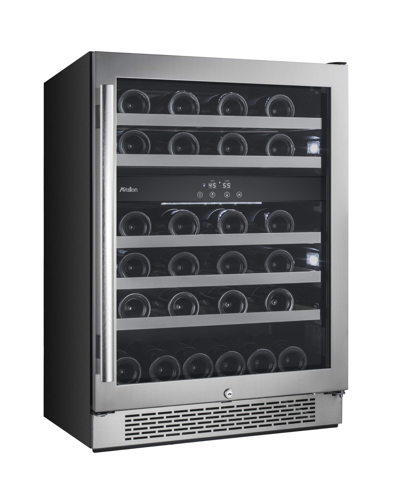 Avallon AWC241DZRH 46 Bottle 24'' Dual Zone Built-In Wine Cooler - Right Hinge