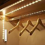 Amagle Flexible 3.28ft 4000K Natural White LED Strip Light, Motion Sensor Activated, Lighting for Kitchen, Cabinet, Drawer, Stairs