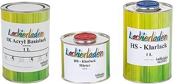 Lackierladen Autolack 2 5 Liter Set Hs Klarlack Härter Wunschfarbe Spritzfertig Seat Ls5n 3d Azulimperial Auto