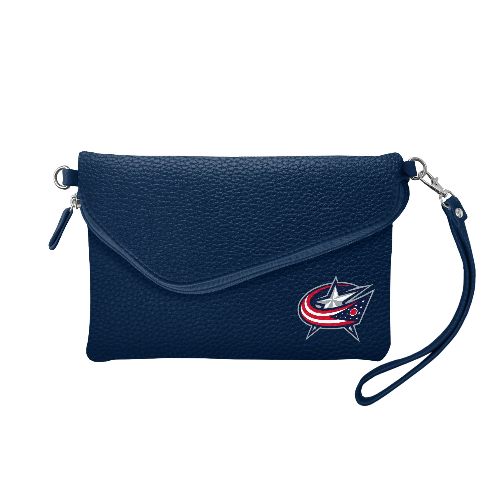 Littlearth NHL Columbus Blue Jackets Pebble Fold Over Crossbody Purse