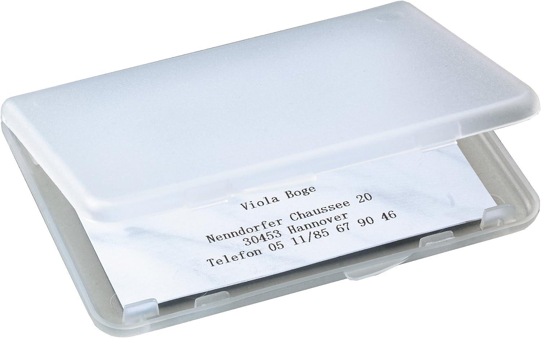 Sigel VA140 - Estuche de plástico para tarjetas de visita, hasta 25 tarjetas