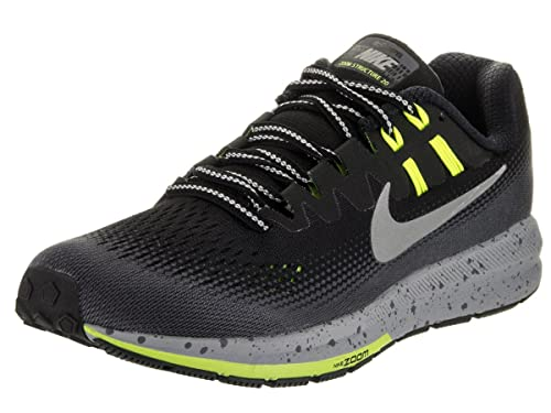 best service abb3f 3de91 Image Unavailable. Image not available for. Color  Nike Women s WMNS Air  Zoom Structure 20 Shield, Black Metallic Silver-Dark Grey