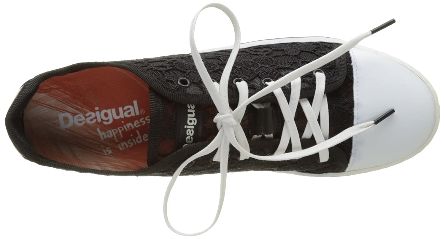 Desigual Damen Supper (schwarz Happy Lace Sneaker Schwarz (schwarz Supper 2000) 946c32