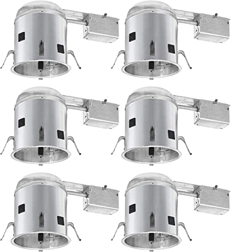 4 Inch Incandescent Airtight Remodel Recessed Housing 6 Pack