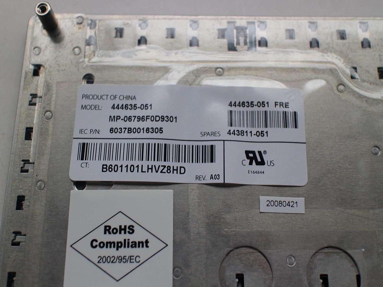 /051/mp-06796/F0d9301 Azerty franc/és teclado para HP Compaq 6710b 6710s 6715b 6715s 444635/