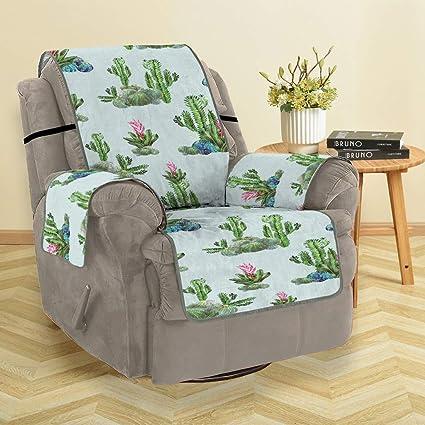 Awe Inspiring Amazon Com Denzar Beautiful Cactus Pattern Sofa Cover Anti Machost Co Dining Chair Design Ideas Machostcouk