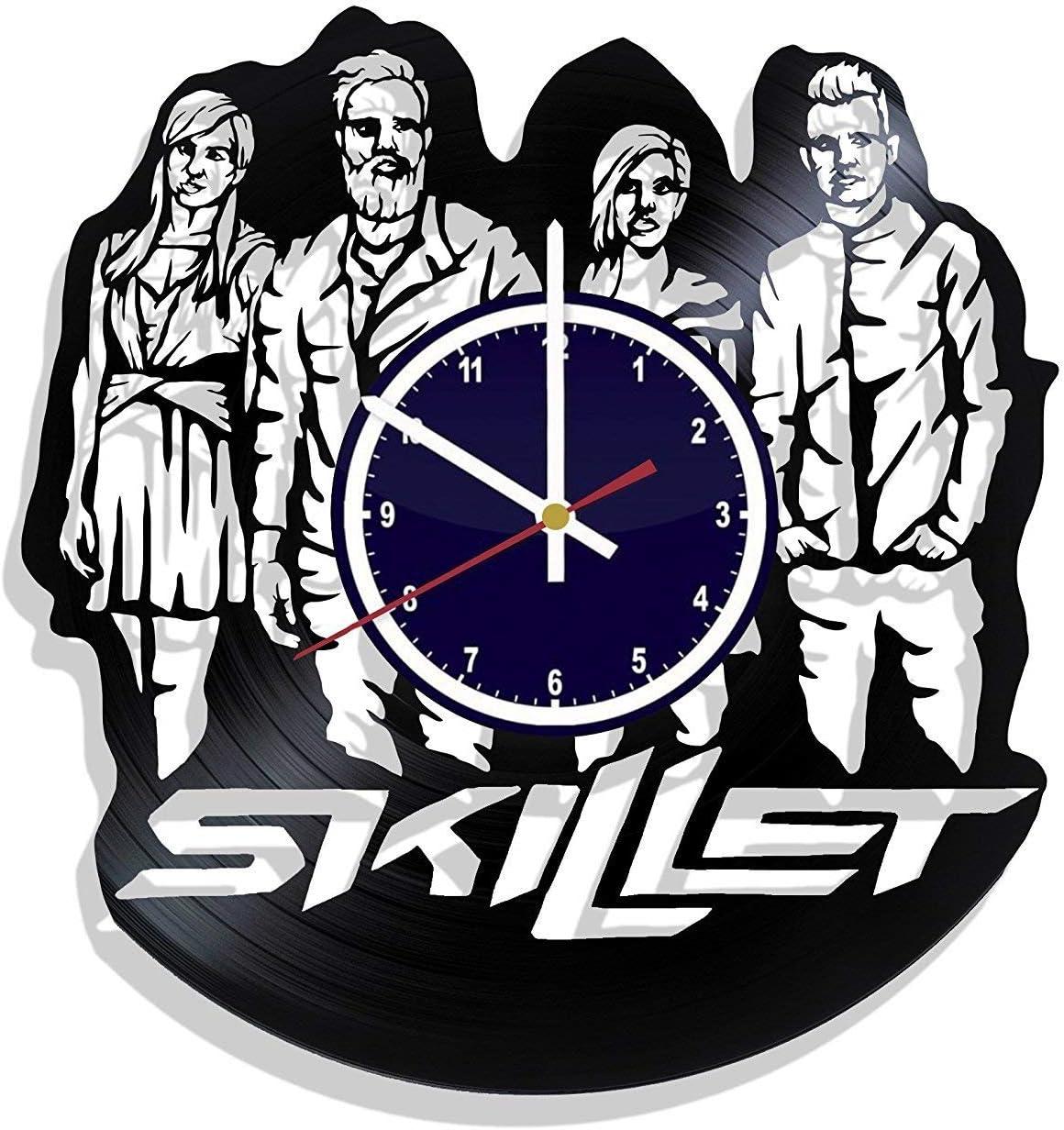 BombStudio Skillet Vinyl Record Wall Clock, Skillet Handmade for Kitchen, Office, Bedroom. Skillet Ideal Wall Poster