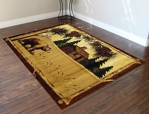 Cabin Area Rug Design L 376 5 Feet 2 Inch X 7 Feet 3 Inch