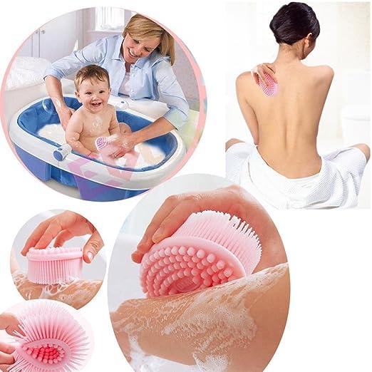 Easyinsmile Baby Multi Use Soft Silicone Bath Massage Brush