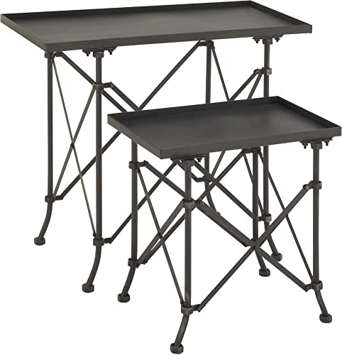 Deco 79 Metal Accent Table, 31 by 20-Inch, Set of 2
