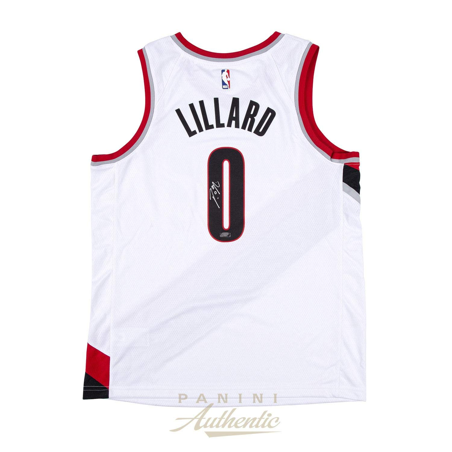 the best attitude a5d0b e4b58 Damian Lillard Signed Jersey - White Nike Trailblazers ...