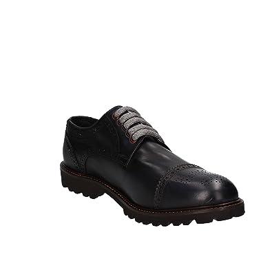 LE VIVALDI, Chaussures de ville à lacets pour homme - Noir, 44 EU