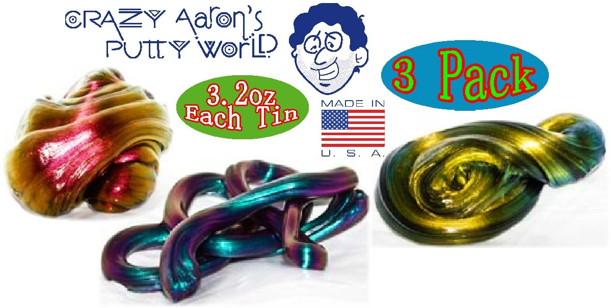 Crazy Aaron's Thinking Putty Super Illusions Super Scarab, Super Lava & Super Oil Slick Gift Set Bundle - 3 Pack by Crazy Aaron's (Image #5)