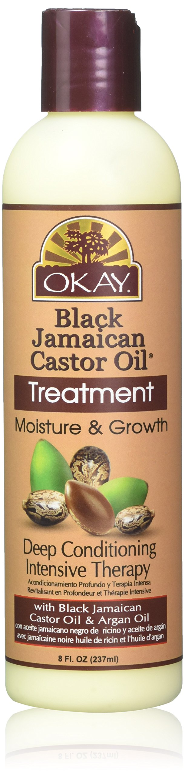 Okay Jamaican Castor Oil, Moisture Growth Treatment, Black, 8 oz.