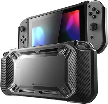 Estuche de Nintendo Switch con Protector de Pantalla, Broche de Goma Slim de Trabajo Pesado en Funda de Estuche Duro para Nintendo Switch con absorción de Impactos y Anti-arañazos (Negro): Amazon.es: Electrónica