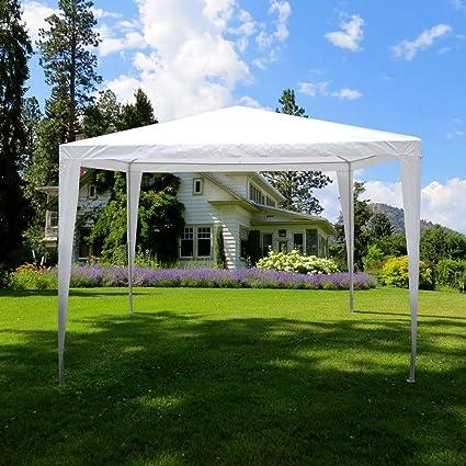 Garden Vida Gazebo Carpa para Fiestas al Aire Libre jardín toldo Impermeable, Acero, Blanco, 3 x 3 m