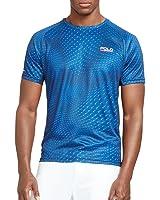 Polo Ralph Lauren Sport Men's Micro-Dot Jersey T-Shirt Navy Blue