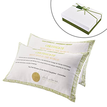 Best MomDad In The World Certificate Pillowcase Perfect Gift For Mesmerizing Best Fabric For Decorative Pillows