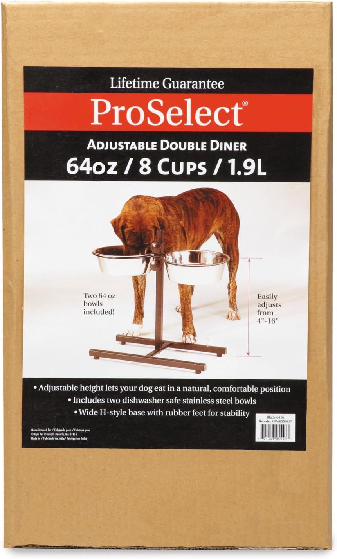 Pro Select Stainless Steel Adjustable Dog Diner Bowl