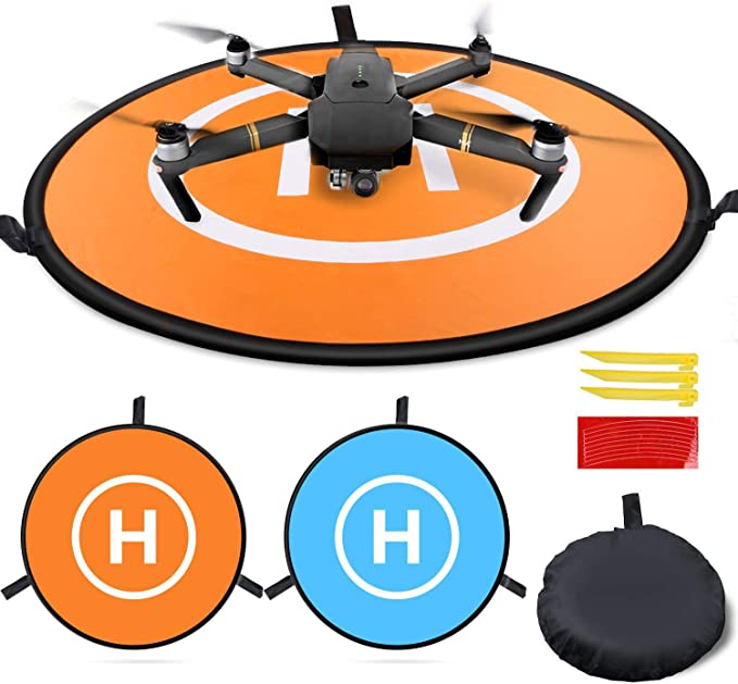 DJI Spark 3DR Solo and Others. Double Sided Mavic Pro//Air//Mini//2 pro//2 Zoom Universal Phantom 2//3//4 Pro 30 for quadcopters Fast-Folding 75cm Waterproof IbD-Tech Drone Landing Pad
