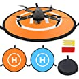 Homga Drones Landing Pad Universal Waterproof D 75cm/30'' Portable Foldable Landing Pads for RC Drones Helicopter, PVB Drones