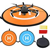 Homga Drones Landing Pad Universal Waterproof D 75cm/30'' Portable Foldable Landing Pads for RC Drones Helicopter, PVB…