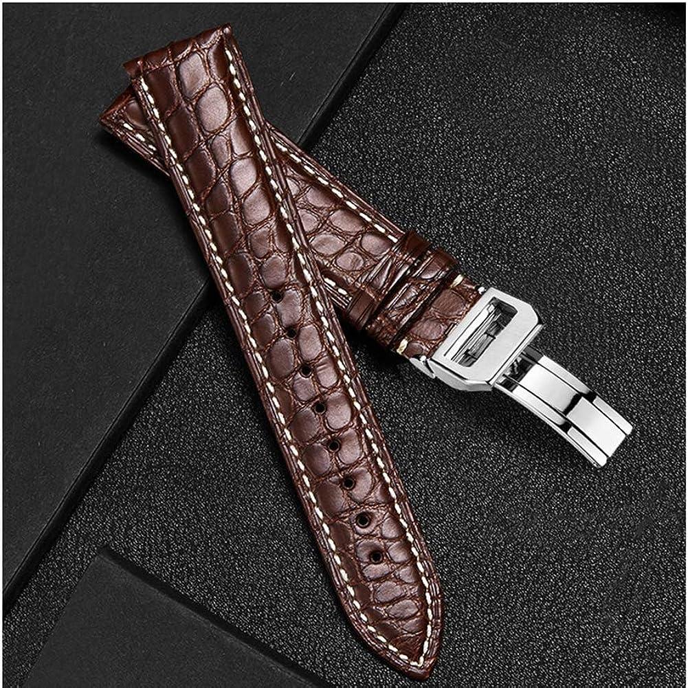 Bracelet en Montre en Cuir Véritable pour Homme Ou Femme Accessoires De Montre en Cuir Véritable 22MM 18MM 20MM24MM 16MM Brown Brown Rose