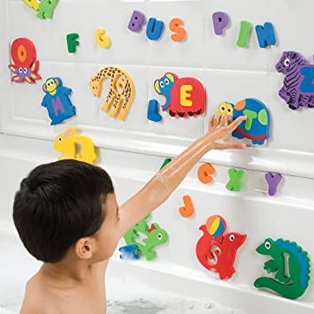 Amazon.com : Foam Bath Toy Letters and Animals for Kids : Baby