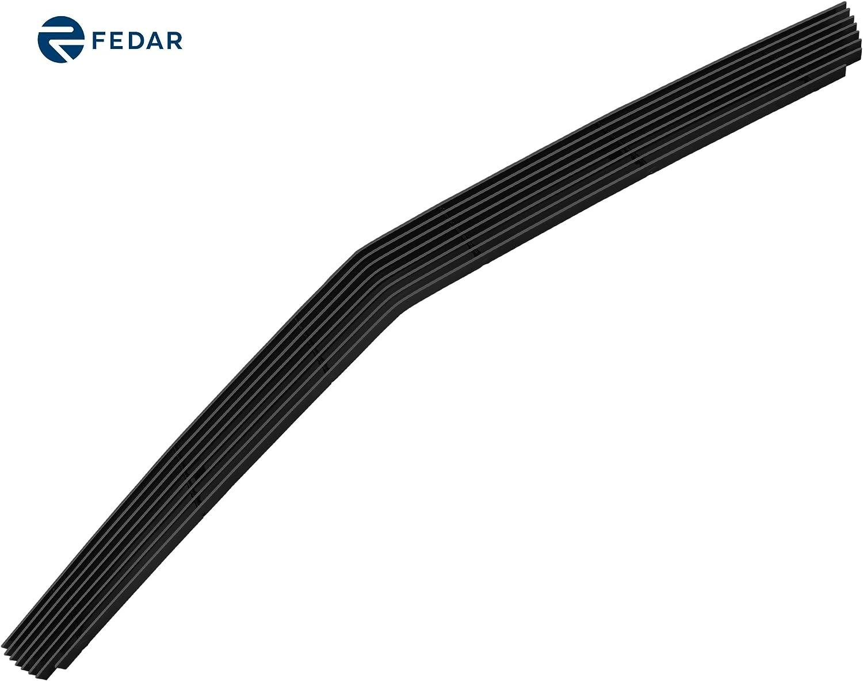 Bumper Billet Grille Insert 2PCs Combo Black Emblem Cutout For 2010-2013 Chevy Camaro LS//LT Short ZMAUTOPARTS Upper