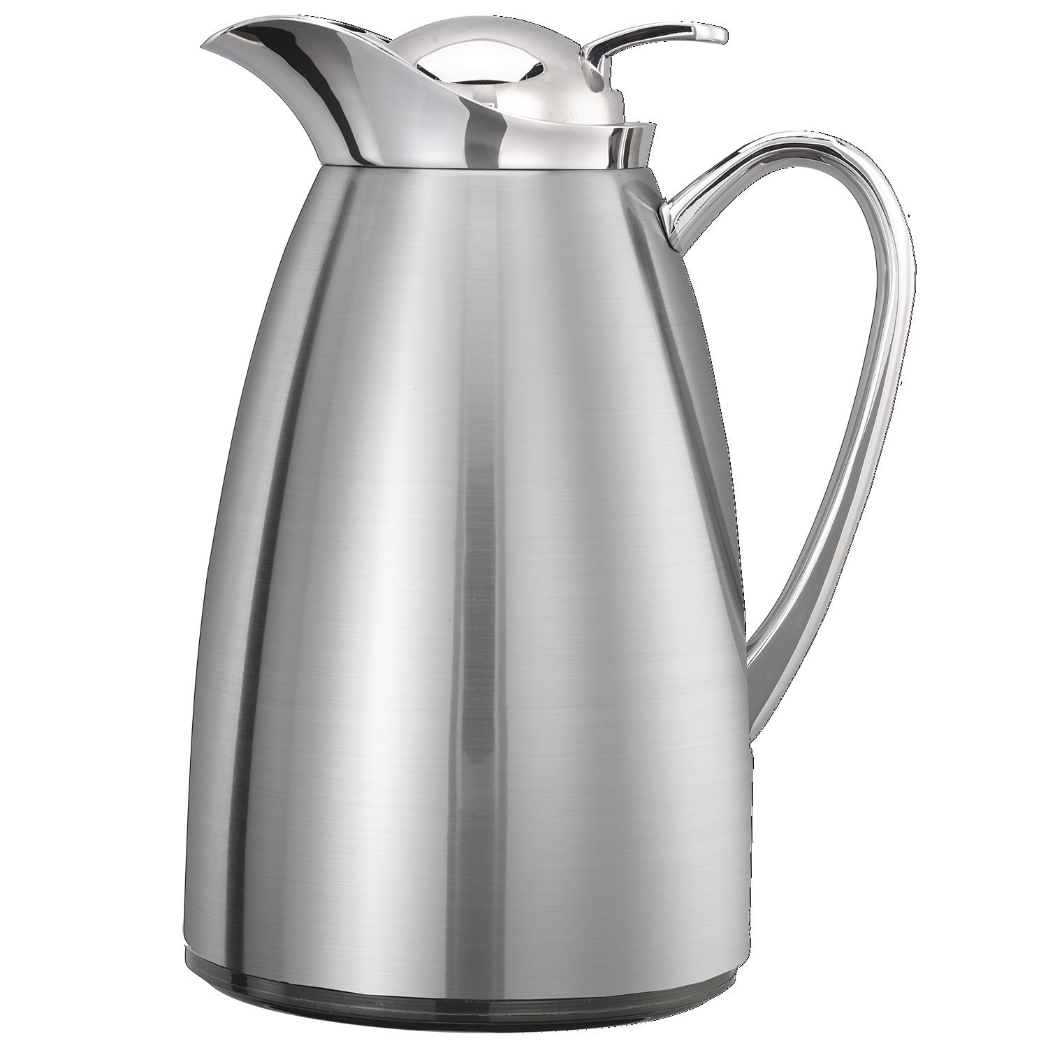 Service Ideas CJZS6BS Carafe, Stainless Lined, Brushed/Polished, 0.6 L
