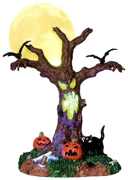 lemax scary moonlit tree spooky town table accent halloween decor