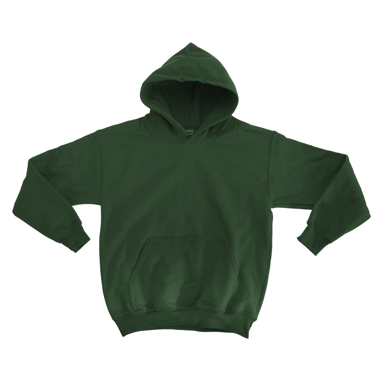 Maroon Gildan Heavy Blend Childrens Unisex Hooded Sweatshirt Top//Hoodie M