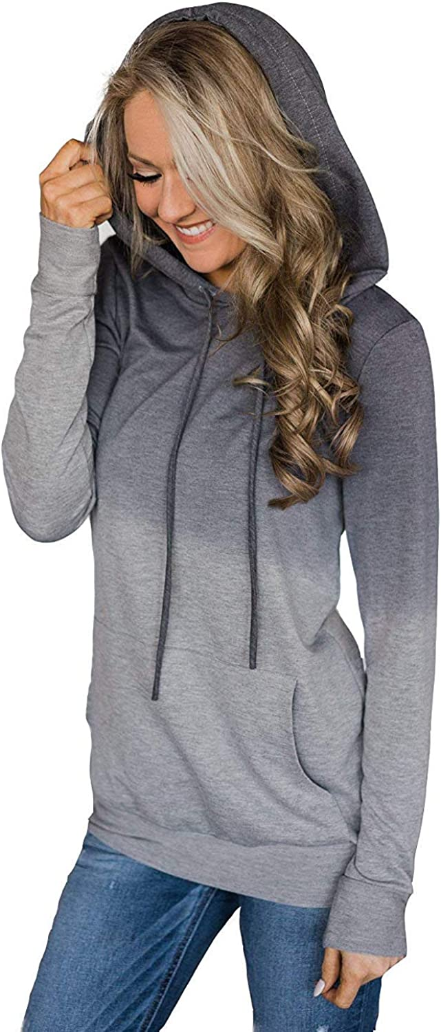 Bloggerlove Womens Hoodies Long Sleeve Floral Pullover Casual Sweatshirt with Pockets