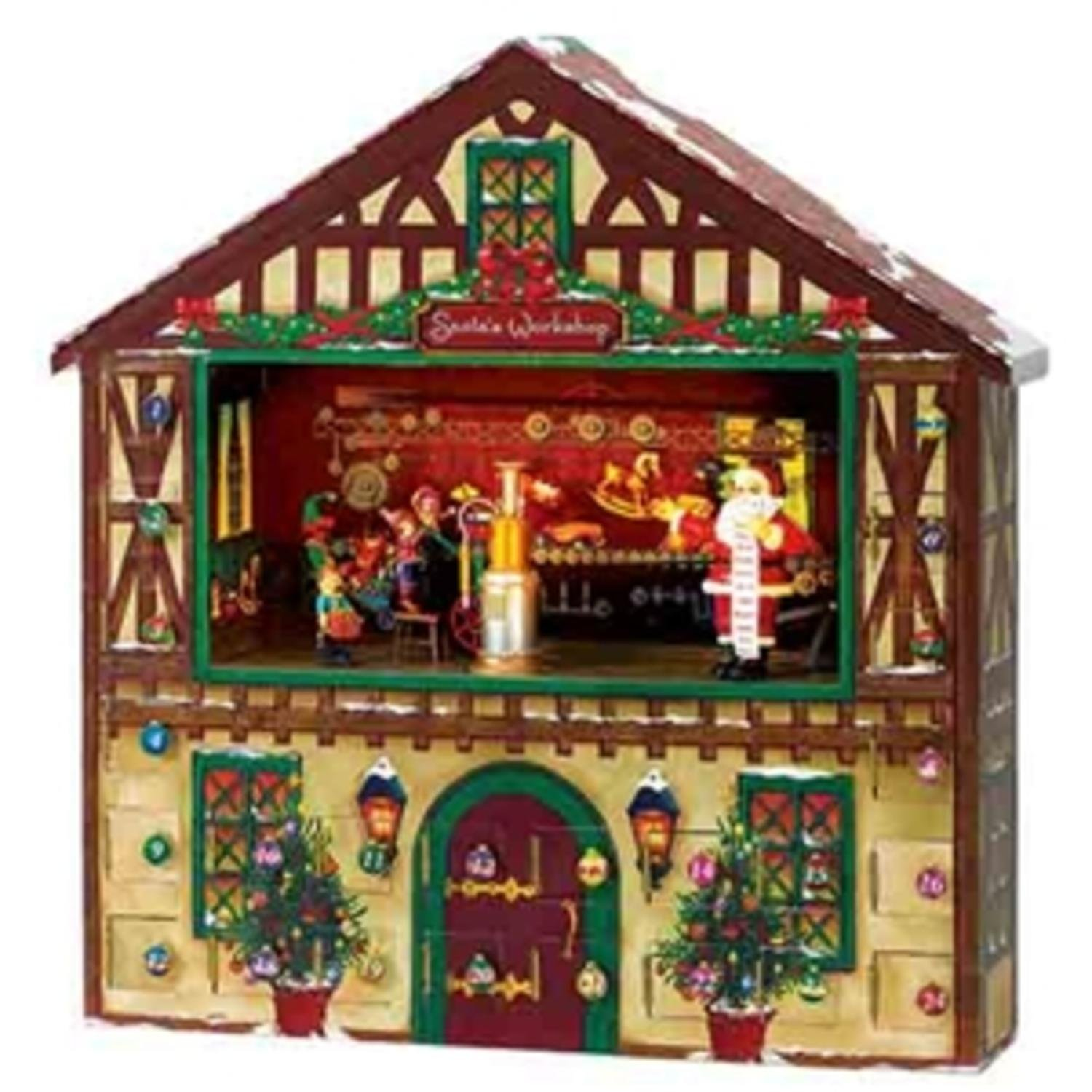 Mr. Christmas Animated & Musical Santa's Workshop Advent Calender House #23963