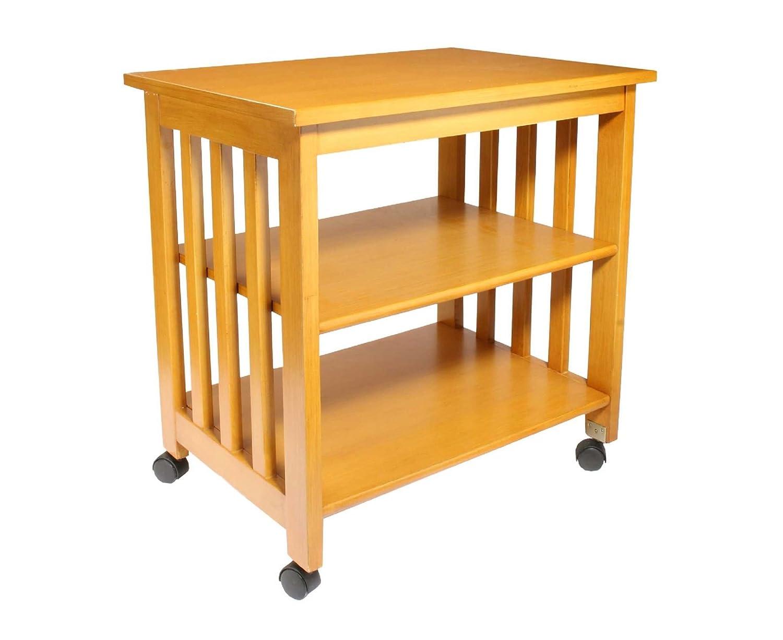 Acabado de madera de almacenamiento con ruedas mesa ruedas ...