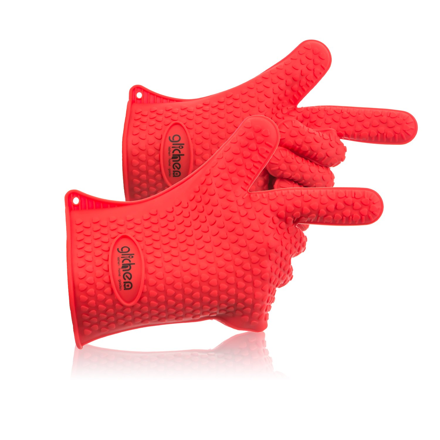 #1 Best Value - 2 High Heat Resistant Silicone Cooking Gloves - Better Than Oven Mitts - Included Is a Free Ebook - Perfect for Use in Kitchen, BBQ, Grilling, Smoking & Potholder - 100%!
