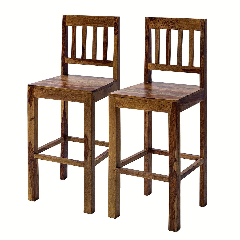 G Fine Furniture Wooden 10 Seater Bar Chairs Set  Long Bar Chair  Sheesham  Wood, Brown