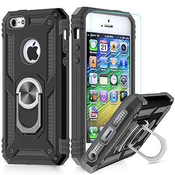 fa7345108ab LeYi Funda iPhone 6 / 6S / 7/8 Armor Carcasa con 360 Anillo iman Soporte  Hard PC y Silicona TPU Bumper ...