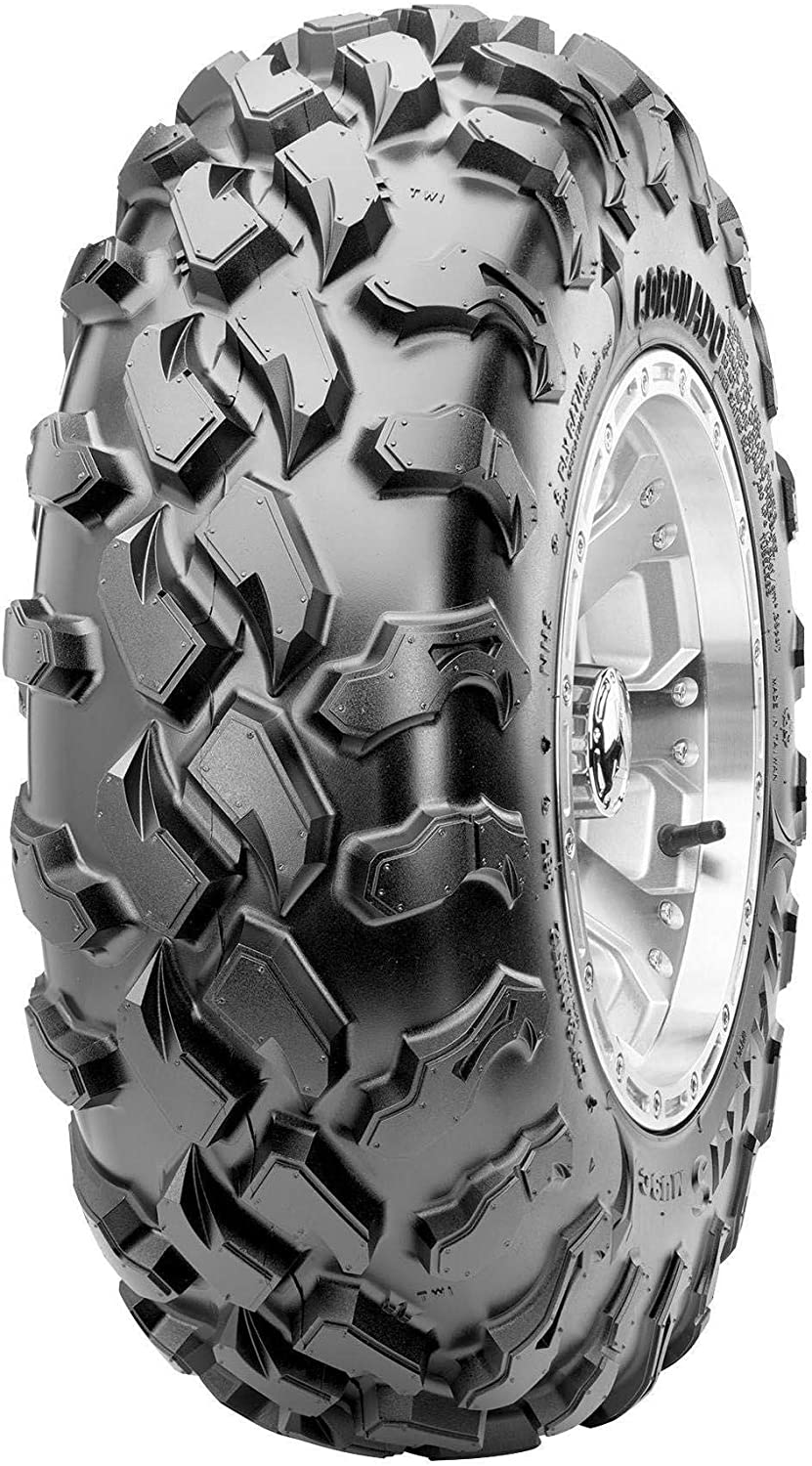 Tire Application: Intermediate Position: Front Tire Ply: 8 TM00854100 26x9R14 Rim Size: 14 Maxxis MU9C Coronado Front Tire Tire Construction: Radial Tire Type: ATV//UTV Tire Size: 26x9x14