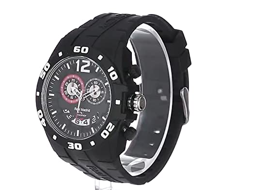 Amazon.com: Viceroy Womens 432853-55 Real Madrid Sports Plastic Black Rubber Date Watch: Viceroy: Watches